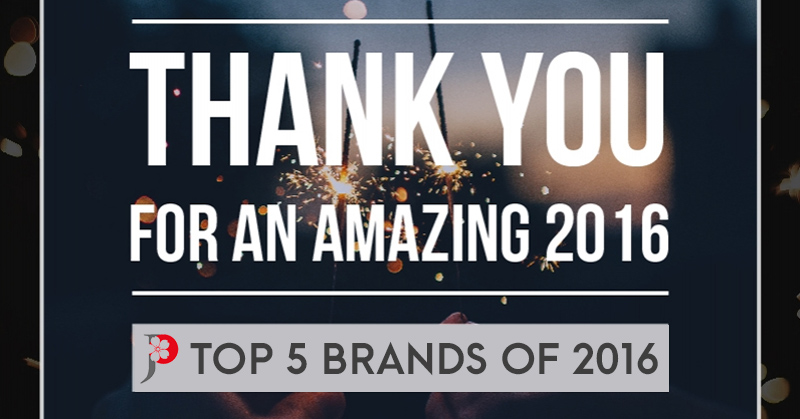 Which are the TOP 5 Brands in 2016?